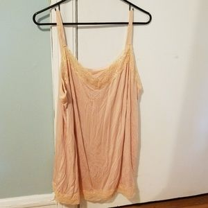 Lane Bryant adjustable strap cami with lace